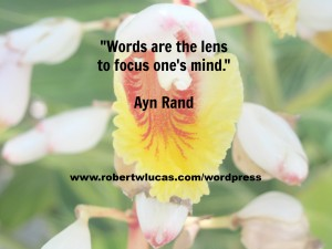Inspirational Writing Quote - Ayn Rand