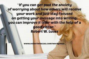 Coping with Anxiety as a Writer or Author