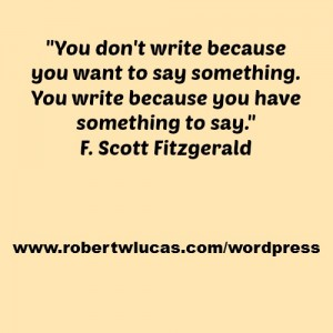 Inspiring Quote for Writers and Authors - F. Scott Fitzgerald