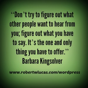 Inspiration for Writing a Book - Quote by Barbara Kingsolver